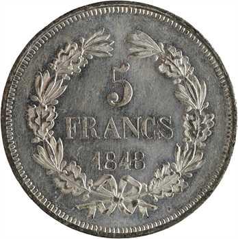 IIe République, concours de 5 francs par Gayrard, 1848 Paris