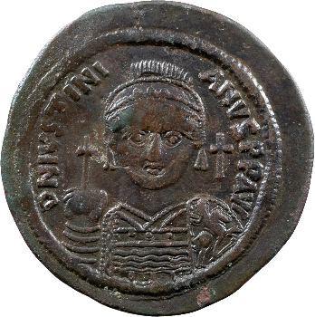 Justinien Ier, follis, Nicomédie, 538-539