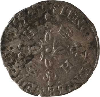 Henri II, douzain aux croissants, 1555 Lyon