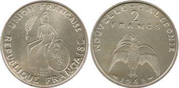 Nouvelle-Calédonie, série de 6 essais, 50 c., 1 et 2 francs, 1948 Paris