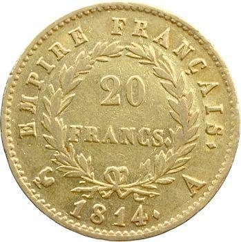 Premier Empire, 20 francs Empire, 1814 Paris