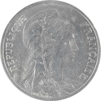 IIIe République, essai de 10 centimes Daniel-Dupuis, aluminium, 1908 Paris