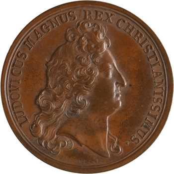 Louis XIV, Strasbourg assujettie et Casale remise au Roi, par Mauger, 1681 Paris