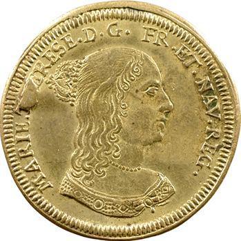 Louis XIV et Marie-Thérèse, jeton de Nuremberg par Hans Laufer, s.d