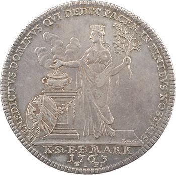 Allemagne, Nuremberg (ville de), François Ier, thaler, 1763 Nuremberg