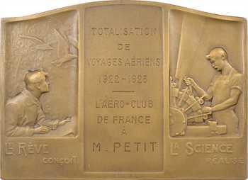 Morlon (A.) : hommage de l'Aéro-Club de France à M. Petit, 1923 Paris