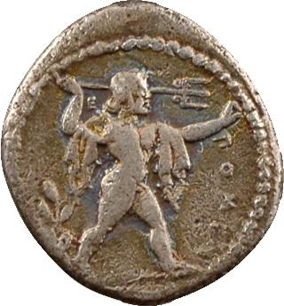 Lucanie, triobole, Poseidonia, c.445-420 av. J.-C.