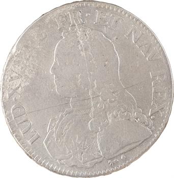Louis XV, écu aux branches d'olivier, 1740 Paris