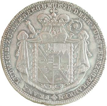 Allemagne, Bamberg (évêché de), Christoph Franz von Buseck, thaler, 1795