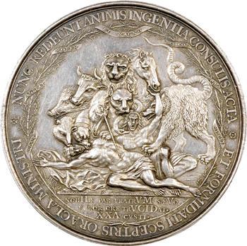 Pays-Bas, massacre des frères De Witt par F. Avry, 1672