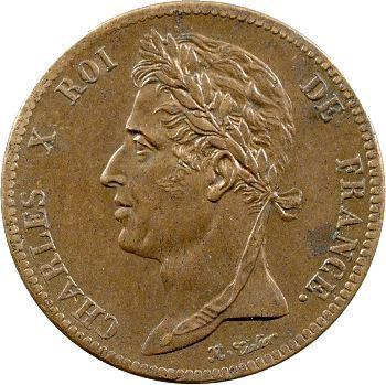 Charles X, 5 centimes pour les colonies, 1825 Paris