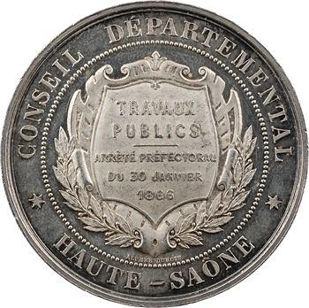 Second Empire, Conseil Départemental de la Haute Saône, travaux publics, 1866 Paris