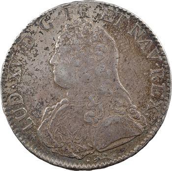 Louis XV, écu aux rameaux d'olivier, 1735 Bayonne