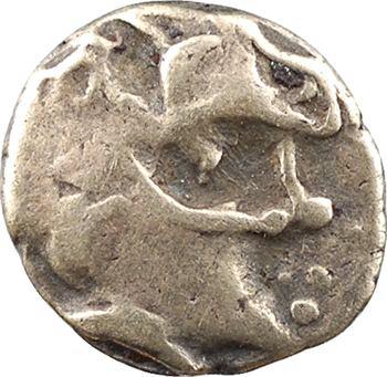 Namnètes, quart de statère de billon à l'hippophore, classe II à la petite tête, c.80-50 av. J.-C.