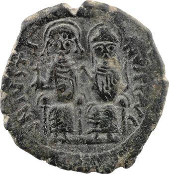 Justin II et Sophie, follis, Nicomédie, 2e officine, An IIII = 568-569