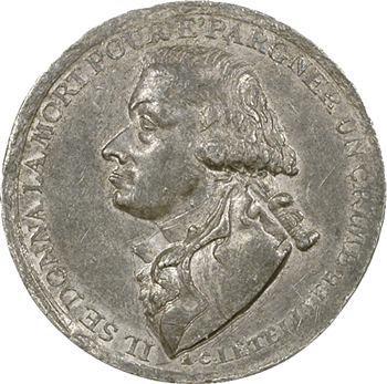 Directoire, mort de Letellier, médaille de Palloy, An 4 (1795) Paris