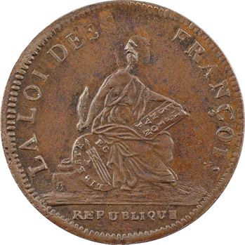Convention, essai de Bernier à la République, An II (1793) Paris