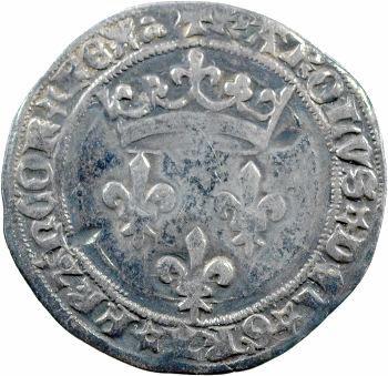 Charles VII, gros de Roi, 2e émission, Lyon