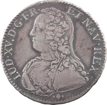 Louis XV, demi-écu aux rameaux d'olivier, 1729 Bayonne