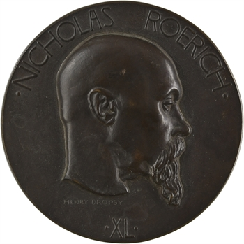 États-Unis/France, inauguration du musée Nicholas Roerich de New-York, par Dropsy, 1929 Paris (Canale)
