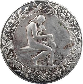 Roty (L.-O.) : l'Amour blessé, épreuve de médaille, 1891 Paris