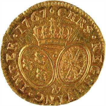 Louis XV, louis d'or au bandeau, 1767 Aix-en-Provence