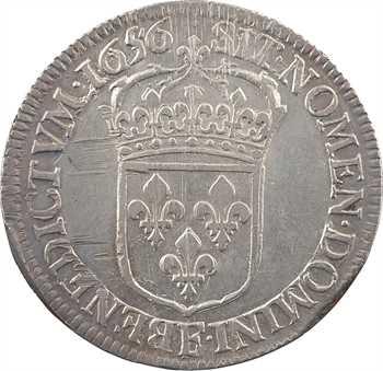 Louis XIV, demi-écu à la mèche longue, 1656 Angers