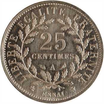 IIIe République, essai de 25 centimes Dupré petit module, 1903 Paris PROOF