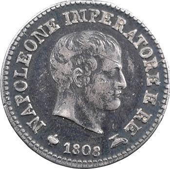 Italie, Napoléon Ier, 10 soldi tranche en relief, 1808 Milan