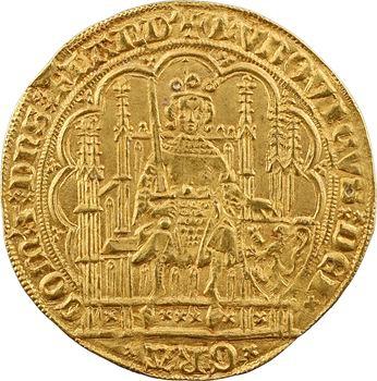 Flandre (comté de), Louis de Male, écu d'or à la chaise, s.d. (1346-1384)