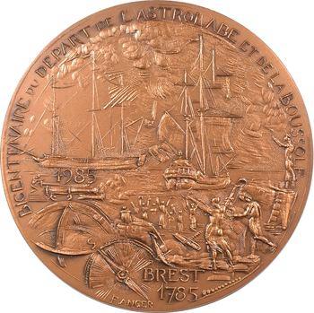 Ve République, bicentenaire du départ de La Pérouse (Astrolabe et Boussole), N° 140/500, 1785-1985 Paris