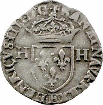Henri IV, douzain aux 2 H, 2e type, 1594 Tours