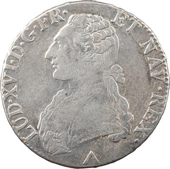 Louis XVI, écu aux branches d'olivier, 1777 Lille