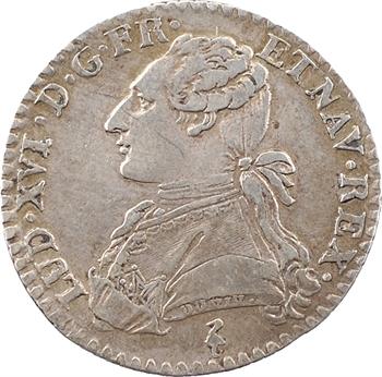 Louis XVI, dixième d'écu aux branches d'olivier, 1782, 1er semestre, Paris