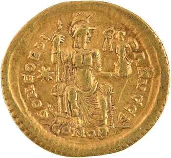 Théodose II, solidus, Constantinople, 408-420
