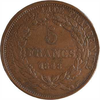IIe République, concours de 5 francs par Domard, 1848 Paris
