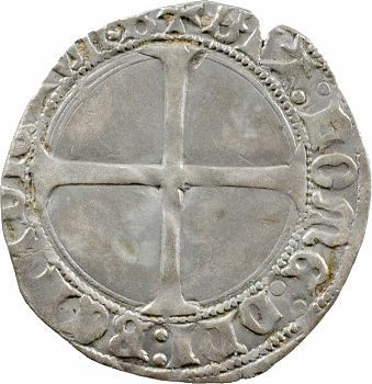 Charles VII, blanc au K dit des gens d'armes, 1re émission, Bourges