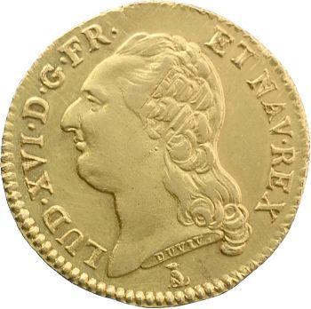 Louis XVI, louis d'or à la tête nue, 1785 Nantes