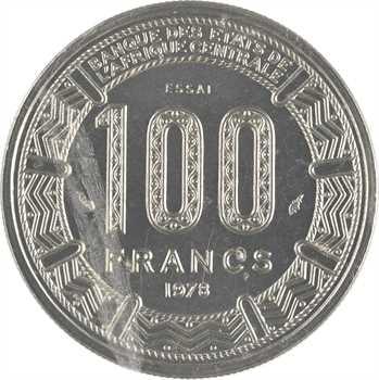 Empire Centrafricain, essai de 100 francs, 1978 Paris
