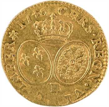 Louis XV, louis d'or au bandeau, 1746 Strasbourg
