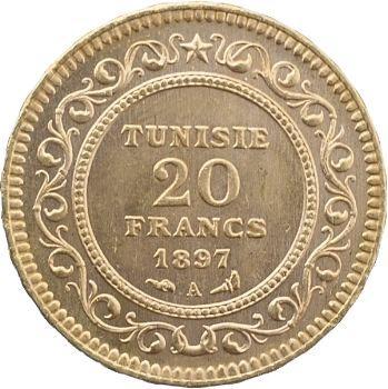 Tunisie (Protectorat français), Ali, Bey, 20 francs, 1897 Paris