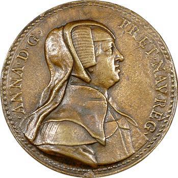 Anne d'Autriche, veuve, médaille uniface, fonte ancienne ?