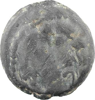 Arvernes [ou Carnutes ?], bronze au cheval entre deux rosaces, Ier s. av. J.-C