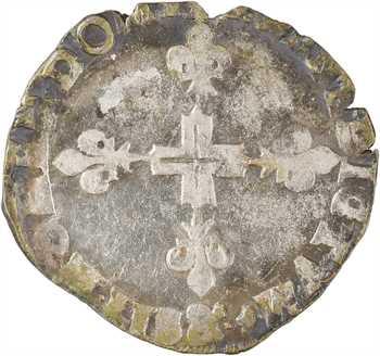 Henri III, double sol parisis, 2e type, 1585 Aix-en-Provence