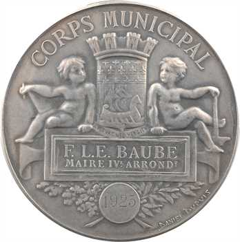 IIIe République, le Corps Municipal à M. Baube (IVe Arrondissement), par Chaplain, 1925 Paris