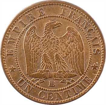 Second Empire, un centime tête nue, 1855 Strasbourg