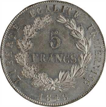 IIe République, concours de 5 francs par Dieudonné, 1848 Paris