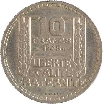 Gvt provisoire, essai de 10 francs par Turin, 1945 Paris