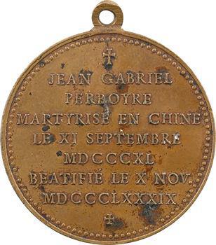 Chine, béatification du père Perboyre, martyrisé en 1840, 1889 Lyon