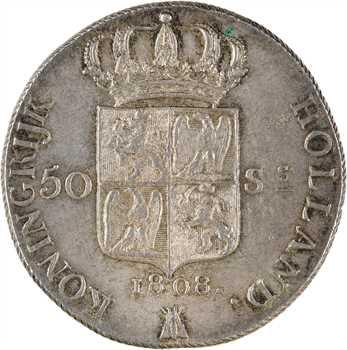 Hollande (royaume de), Louis Napoléon, 50 stuivers, 1808 Utrecht